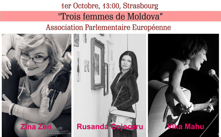 "Zina Zen, Rusanda Cojocaru, Vika Mahu: ""Trois femmes de Moldova"" — La Strasbourg"